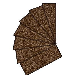 Escalier Collection Brown 8-inch x 26-inch Rubber Back Stair Tread (Set of 13)