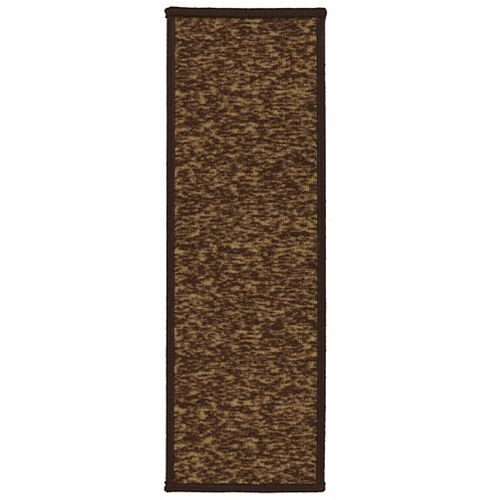 Escalier Collection Brown 8-inch x 26-inch Rubber Back Stair Tread (Set of 5)