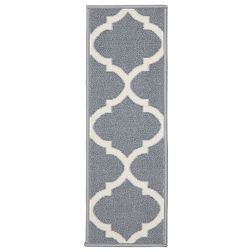 Ottohome Collection Moroccan Gray 9-inch x 26-inch Polypropylene Stair Tread (Set of 7)