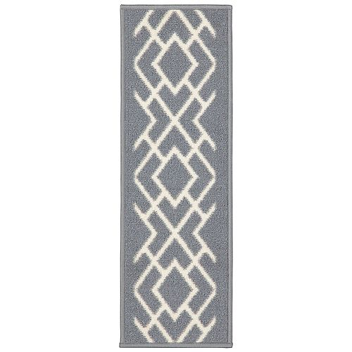 Ottohome Collection Gray 9-inch x 26-inch Polypropylene Stair Tread (Set of 7)