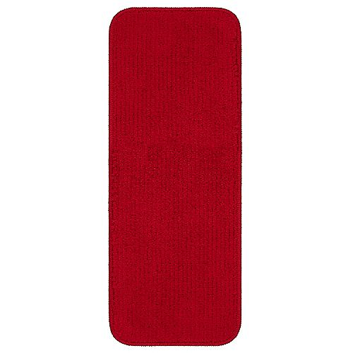 Softy Collection Red 9-inch x 26-inch Rubber Back Stair Tread Cover (Set of 5)