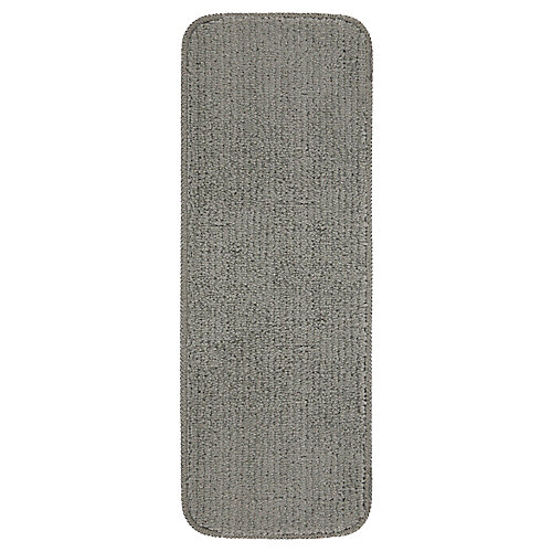 Softy Collection Gray 9-inch x 26-inch Rubber Back Stair Tread Cover (Set of 5)
