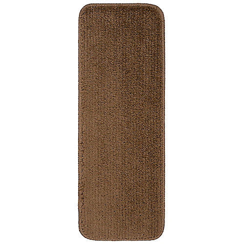 Softy Collection Brown 9-inch x 26-inch Rubber Back Stair Tread Cover (Set of 14)