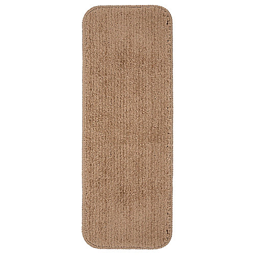 Softy Collection Beige 9-inch x 31-inch Rubber Back Stair Tread (Set of 7)