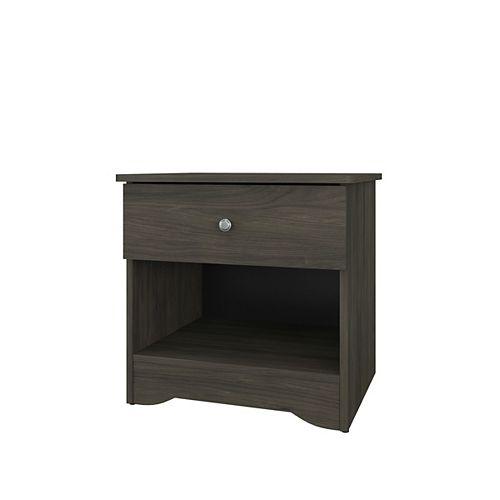 Nexera Pocono 1 Drawer Nightstand, Bark Gray