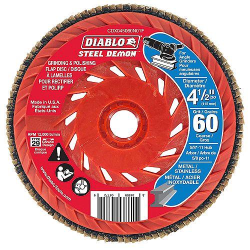 Diablo 4-1/2-Inch Speed Hub Flap Disk 60 G