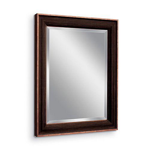 28 in. x 34 in. Oil Rubbed Bronze Wall Mirror