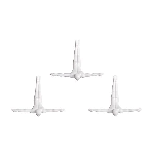 Wall Diver White Wall Art (Set of 3)
