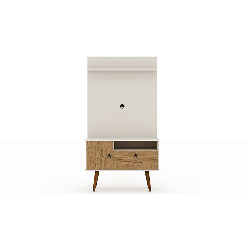 Tribeca 35.43 TV Stand and Panel in Off White and Nature