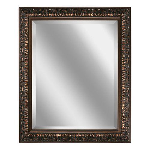 28.5 in. x 34.5 in. Bronze Ornate Wall Mirror