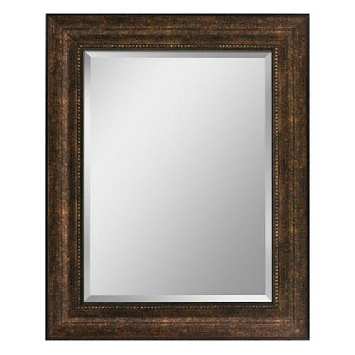 29 in. x 35 in. Copper Beaded Wall Mirror