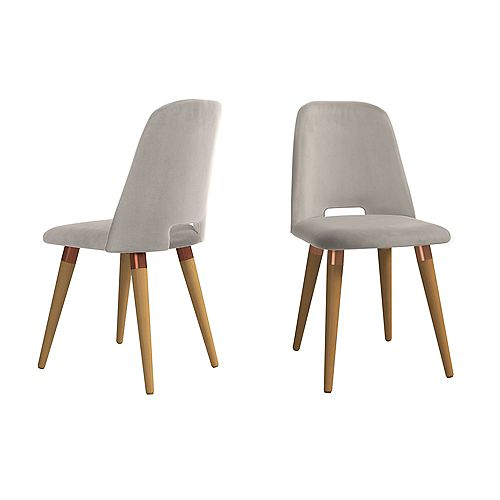 Selina Accent Chair  Set of 2 in Beige