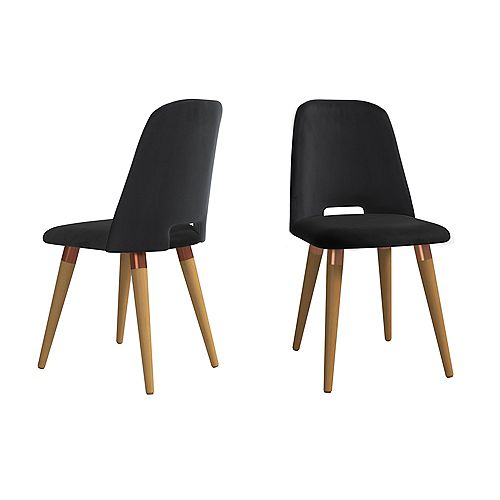 Selina Accent Chair  Set of 2 in Black