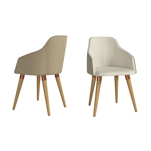 Martha Accent Chair  Set of 2 in Beige