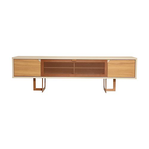 Knickerbocker 81.1 TV Stand in Cinnamon and Off White