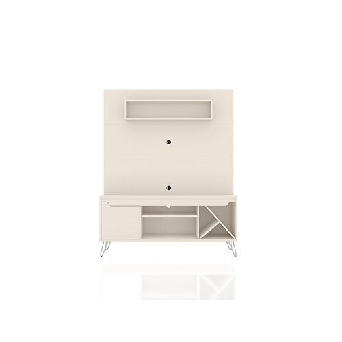 Baxter 53.54 Freestanding Entertainment Center in Off White