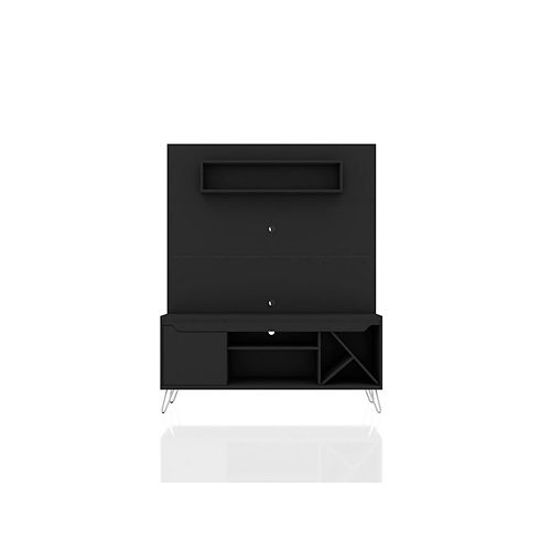Manhattan Comfort Baxter 53.54 Freestanding Entertainment Center in Black