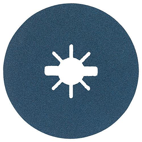 25 pc. 4-1/2 In. 120 Grit X-LOCK Fine Grit Abrasive Fiber Discs