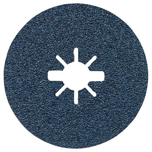 25 pc. 4-1/2 In. 36 Grit X-LOCK Coarse Grit Abrasive Fiber Discs