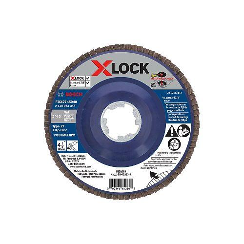 Bosch Disque à lamelles X-LOCK de 4-1/2 po pour arbre type 27, grain 40