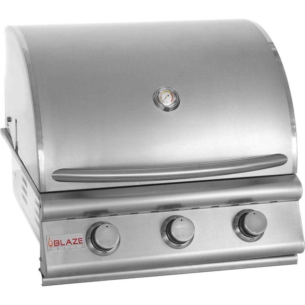BLAZE Barbecue au gaz propane encastré Blaze de 25 po à 3 brûleurs