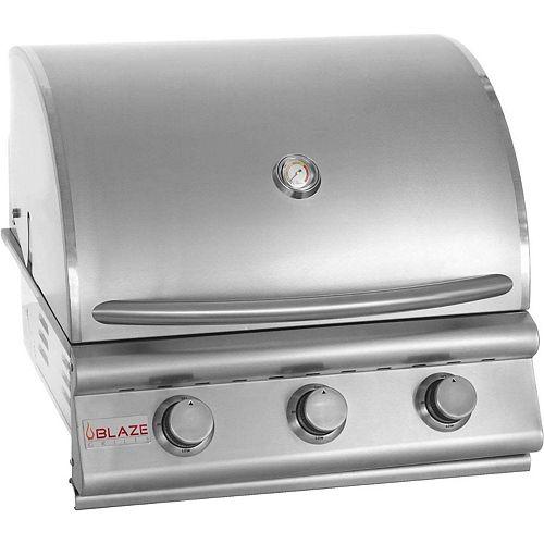 Barbecue au gaz naturel encastré Blaze de 25 po à 3 brûleurs