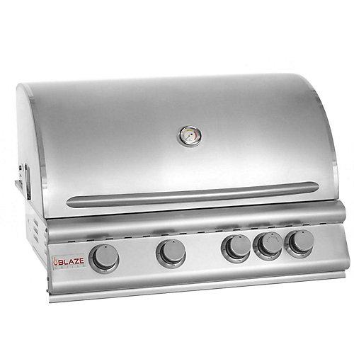 Barbecue au gaz propane intégré de 32 po à 4 brûleurs Blaze avec brûleur infrarouge arrière