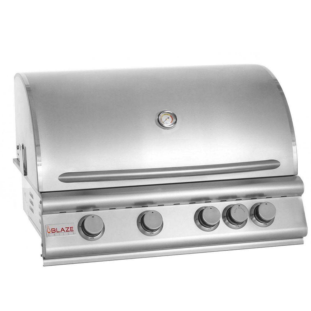 BLAZE Barbecue au gaz naturel à 4 brûleurs Blaze de 32 pouces avec brûleur infrarouge arrière