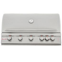 Blaze 5 Burner LTE Grill Built-In Natural Gas Grill with Lights