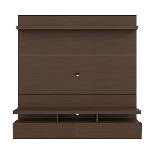 City 62.99 Floating Entertainment Center in Nut Brown