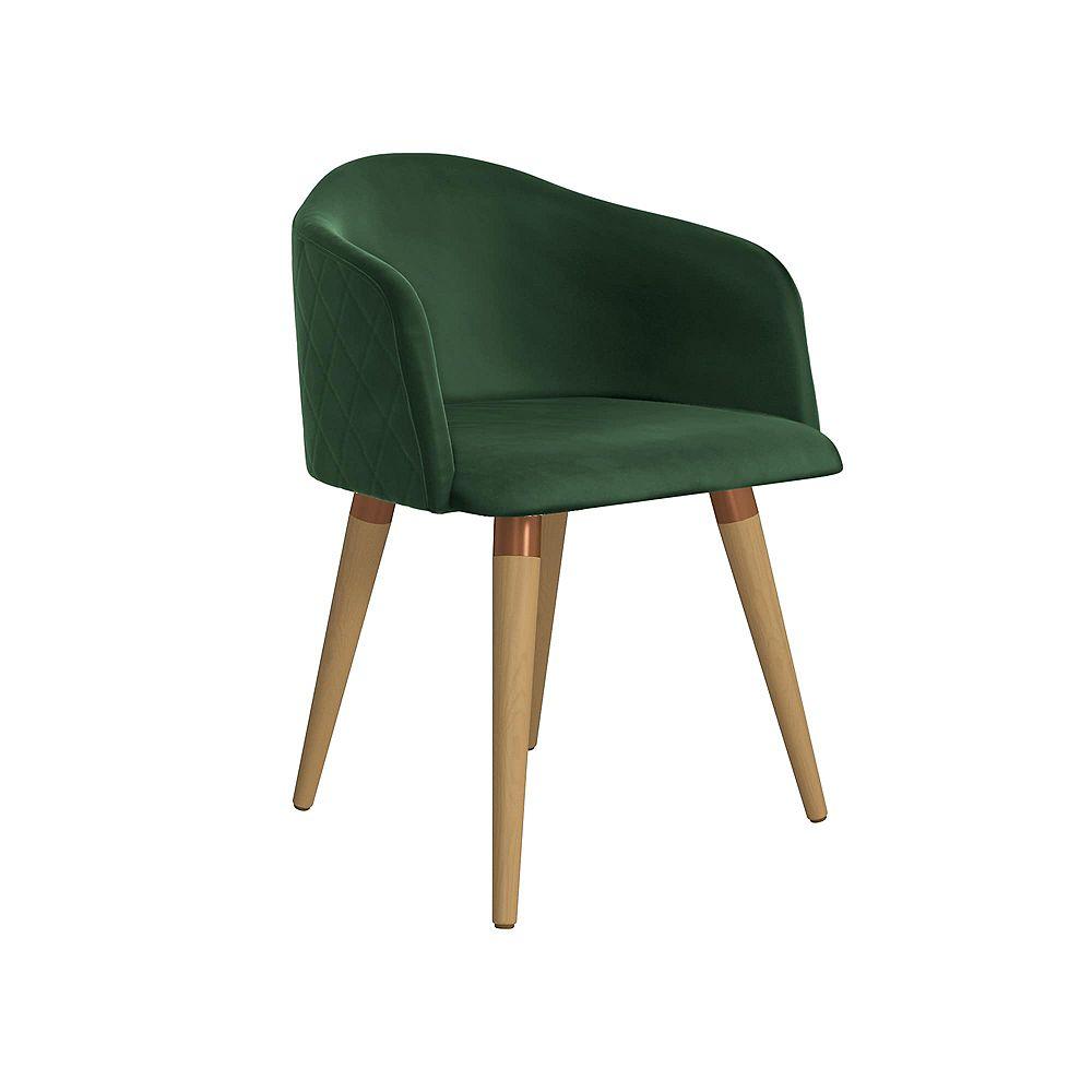Manhattan Comfort Kari Accent Chair in Green