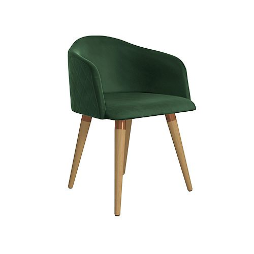 Manhattan Comfort Kari Accent Chair in Green