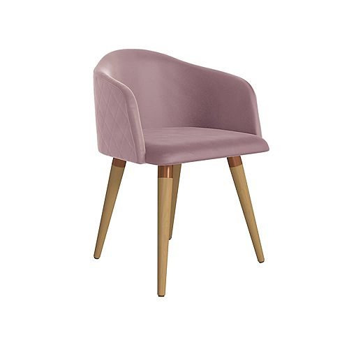 Kari Accent Chair in Rose Pink