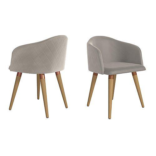 Kari Accent Chair  Set of 2 in Beige