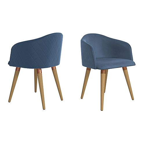 Kari Accent Chair  Set of 2 in Blue