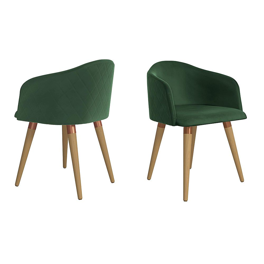 Manhattan Comfort Kari Accent Chair  Set of 2 in Green