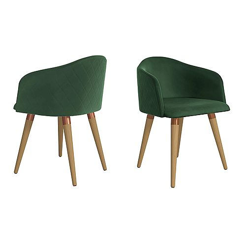 Kari Accent Chair  Set of 2 in Green