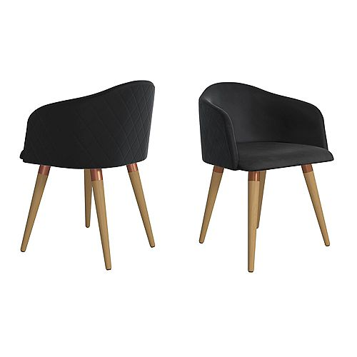 Kari Accent Chair  Set of 2 in Black