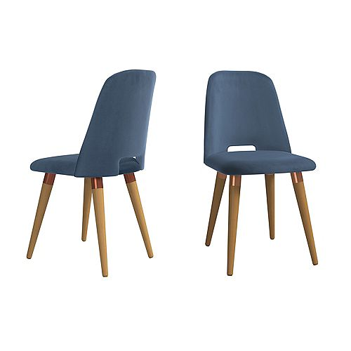 Selina Accent Chair  Set of 2 in Blue