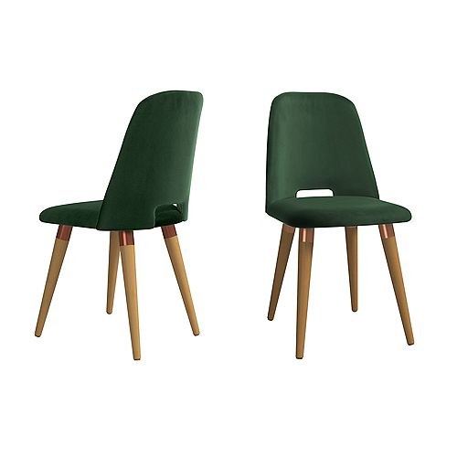 Selina Accent Chair  Set of 2 in Green