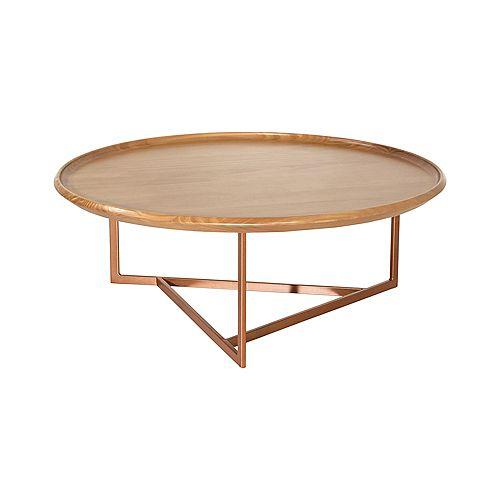 Table Basse Ronde Knickerbocker en Cannelle