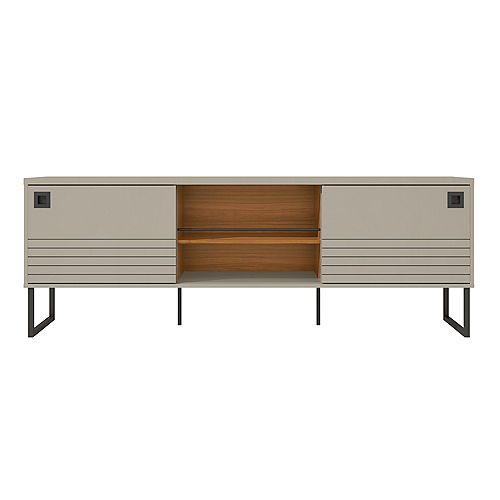 Loft 70.47 TV Stand in Off White and Wood
