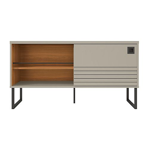 Loft 47.24 TV Stand in Off White and Wood