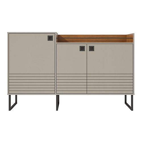 Loft 62.59 Buffet Stand in Off White and Wood