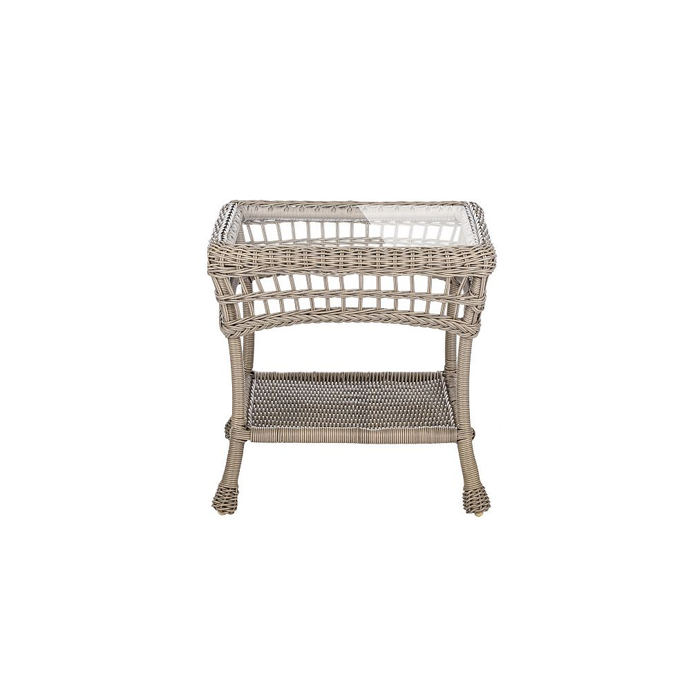 W Unlimited Outdoor Wicker End Table