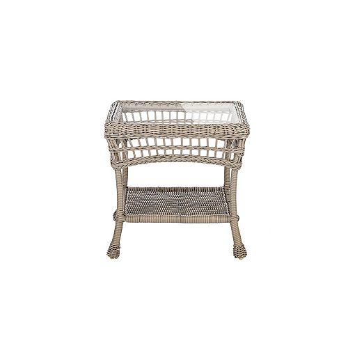 Outdoor Wicker End Table