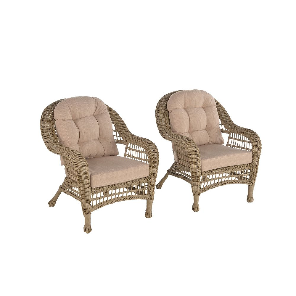Outdoor Garden Cappuccino Patio Set of 8 Chairs with Cushions