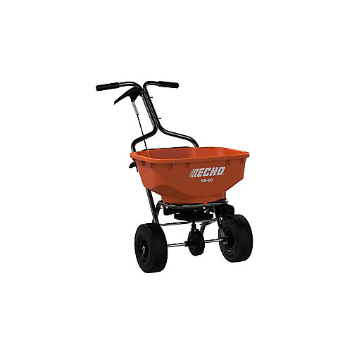 60LBS. BROADCAST TURF SPREADER WITH 25,000 SQ. FT. CAPACITY AND SIDE DEFLECTOR