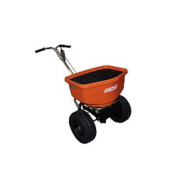100LBS. BROADCAST TURF AND WINTER SPREADER WITH STAINLESS STEEL FRAME AND ADJUSTABLE DEFLECTOR