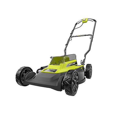 40V 18-inch 2-in-1 Lithium-Ion Cordless Battery Walk Behind Push Mower with 4.0Ah Battery